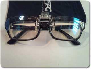 度付きメガネにクリップオンPCメガネ